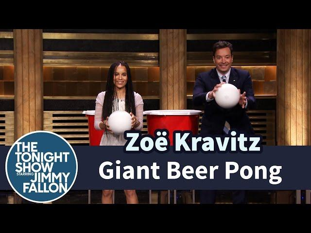 Giant Beer Pong with Zoë Kravitz