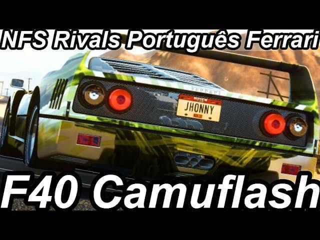 Need For Speed Rivals Português-Ferrari F40 Camuflash