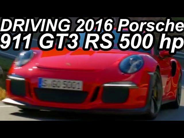 EM MOVIMENTO Porsche 911 GT3 RS 2016 4.0 Boxer-6 500 cv 46,9 mkgf 0-100 kmh 3,3 s