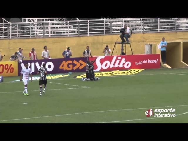 Confira o gol de Vagner Love, que deu a vitória ao Corinthians diante do Bragantino
