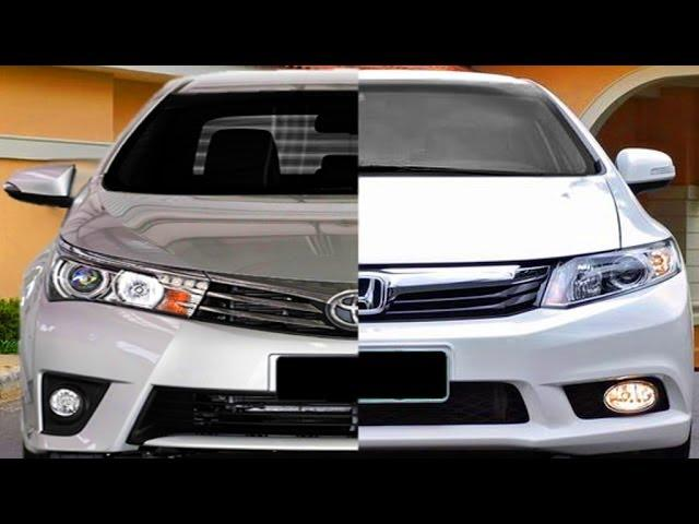 DESIGN Novo Toyota Corolla 2015 vs Honda Civic 2014